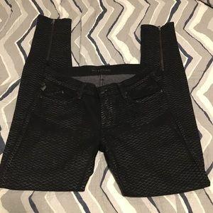 Rock & Republic black skinny jeans w/zip 29 x 31